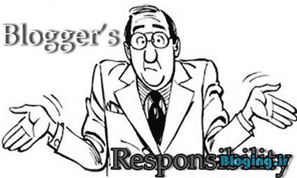 مسئولیت پذیری در قبال نوشته های وبلاگ